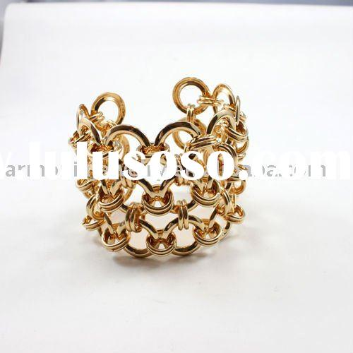 18K gold plated Metal/Iron Art Net Cuff/Bangle/Fashion Bracelet