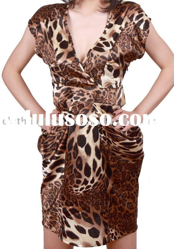 2011/Free Shipping/Leopard Print Party Dress/Retail/Wholesale/SF0069