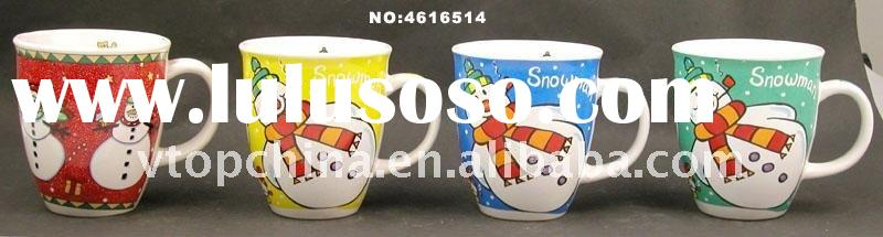 2011 Promotional double wall plastic cups with straw for Christmas Project