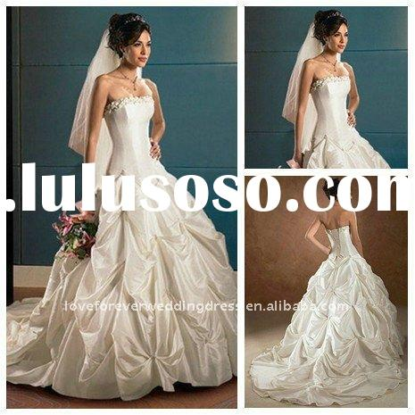 2011 Vintage White Designer Ball Gown Wedding Dresses