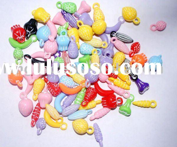 2011 most popular plastic beads for making jewelry J.M.Z-128