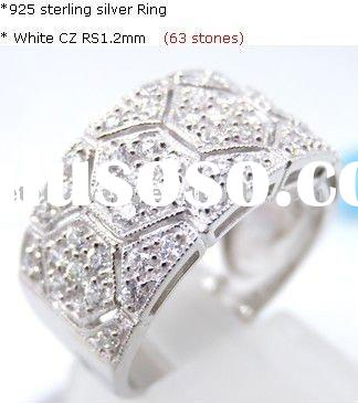 2011 new arrival hexagon shape fashion mens sterling silver rings