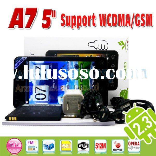 2012 New Arrival!Android 2.3 5inch Mobile Phone A7 WiFI GPS 3G Arabic Language Cell Phone