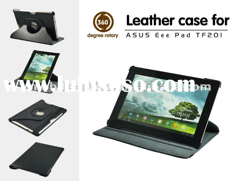 2012 new promotional 360 degree rotation leather case for Asus Eee Pad TF201