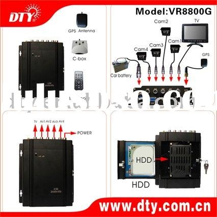 4-CH GPS HDD mobile DVR