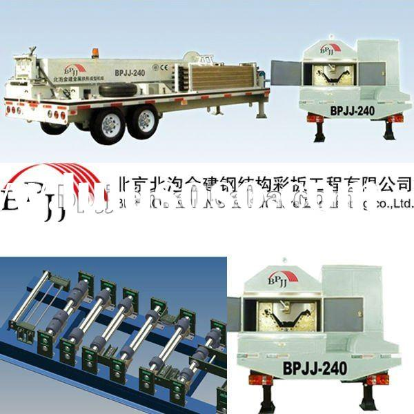 Big-span curving roof roll forming machine