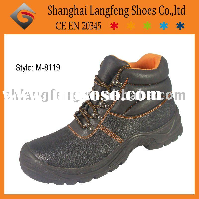 Black steel safety shoes