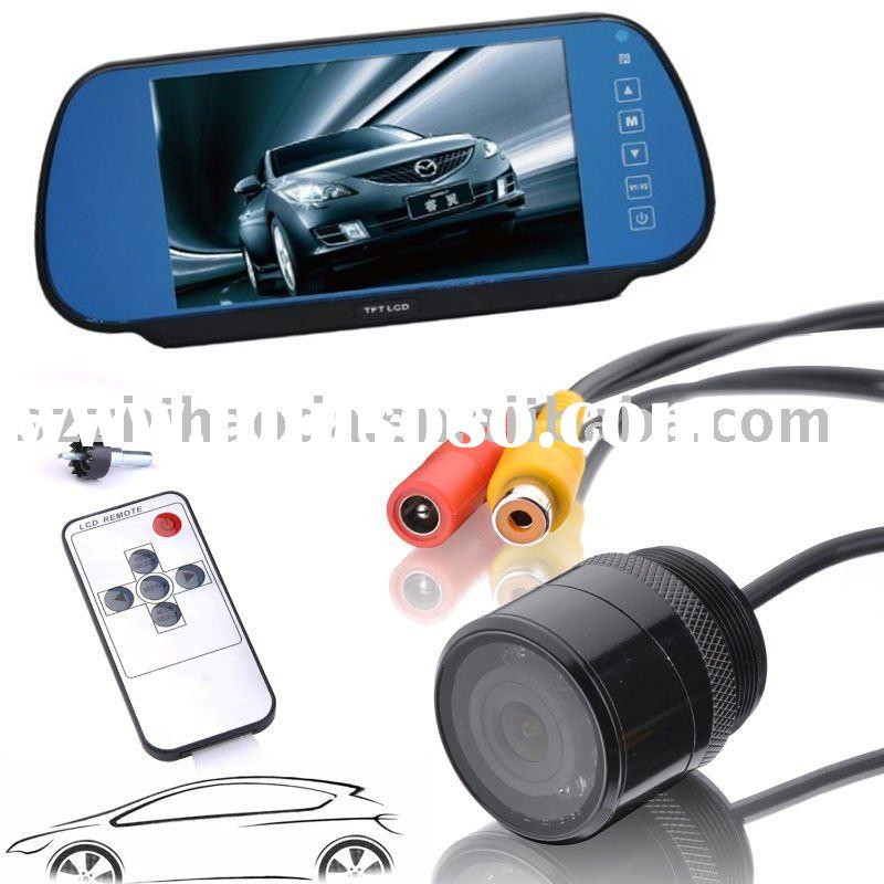 "Bluetooth Handsfree Rear View Camera Car Mirror System with 7"" inch Display"
