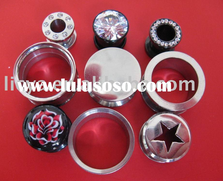 Body Jewelry,316L Stainless Steel Tunnel