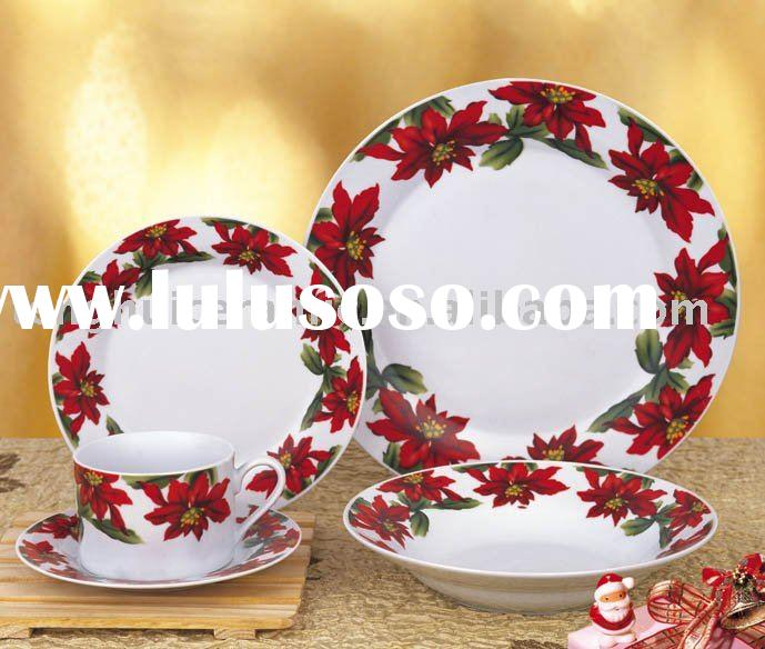 Christmas porcelain flatware set ceramic dinner set