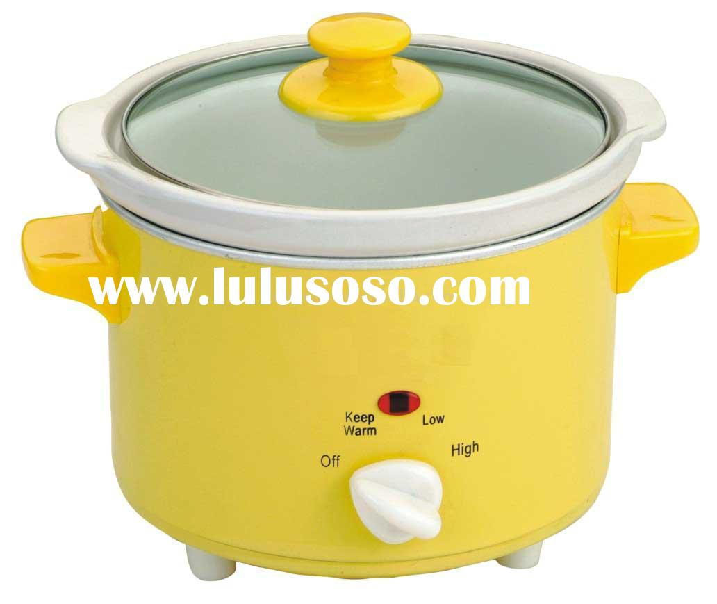 Color Iron Slow Cooker Ceramic Pot 2.5QT