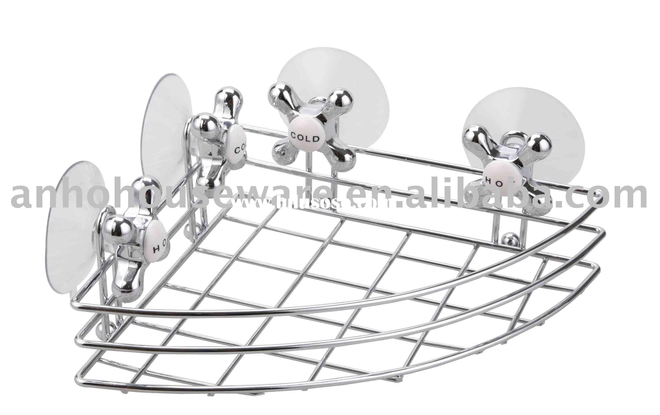 Corner rack with 4pcs simple suction cup