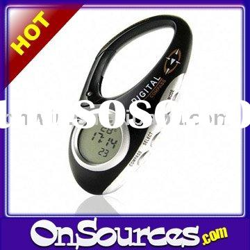 Digital Carabiner Compass with Thermometer + Clock + Stopwatch