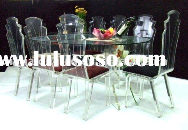 Dining room sets with clear acrylic dining talbe and chair