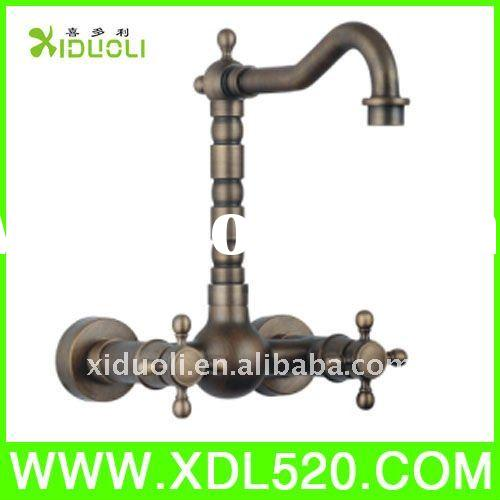 Eurostyle Wall Mounted Dual handle Classic Bathroom Basin Faucet Basin Mixer Basin Tap