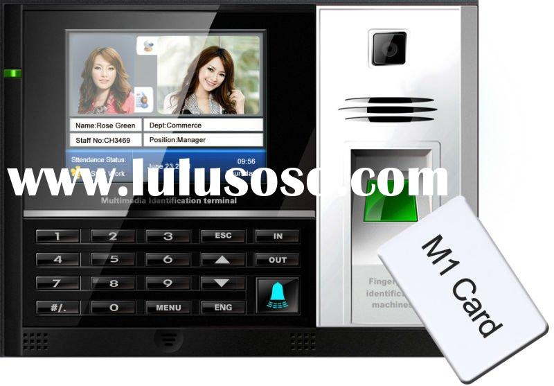 Fingerprint and Punch Card Machine with Access Control System