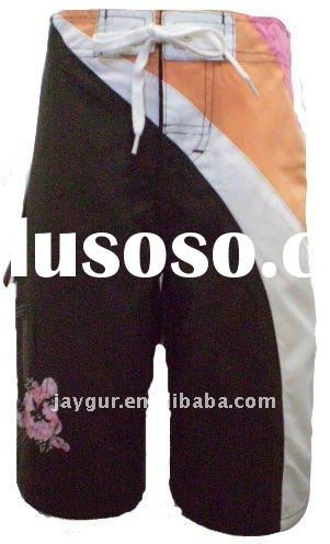 Girls board shorts with assort color inserts