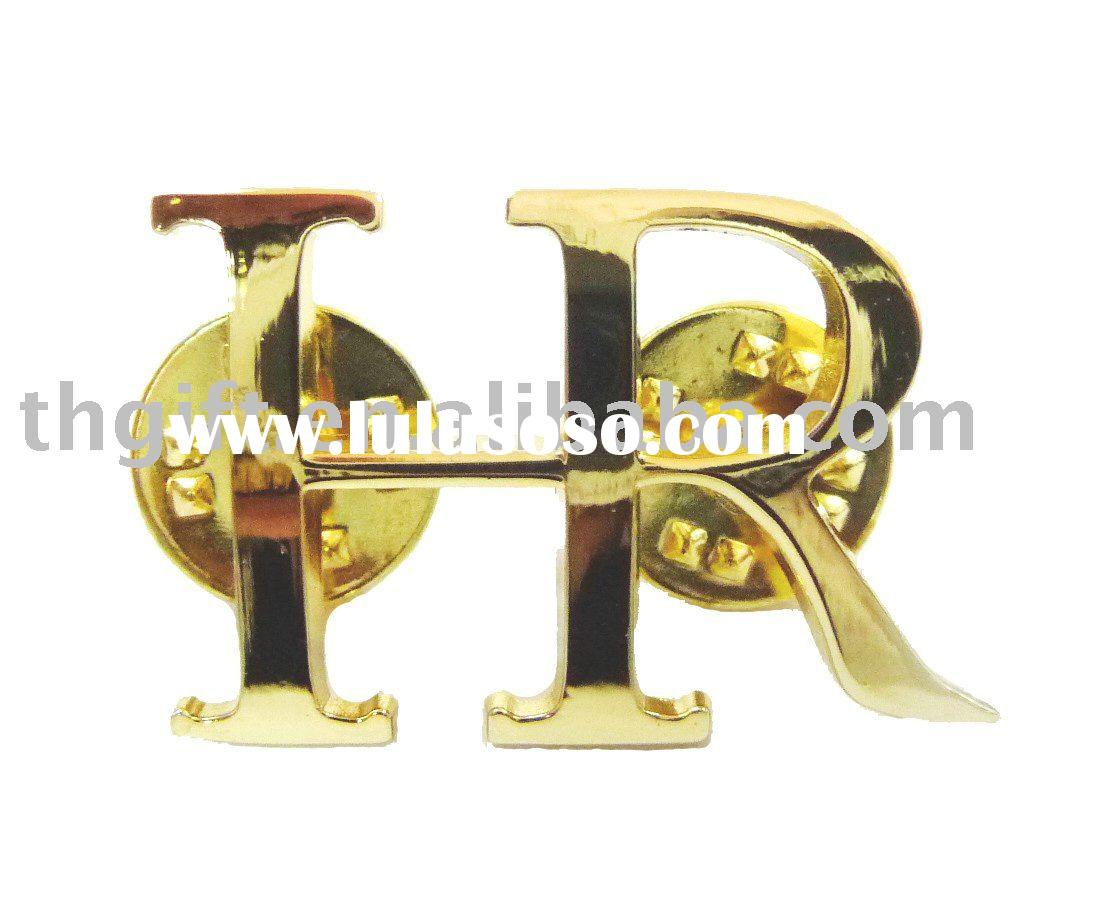 Gold letter pins,metal pins/fashion metal pins/clips