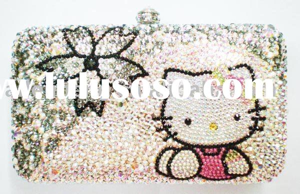Hello Kitty Bags With Swarovski Crystal (335KT4-2) Paypal