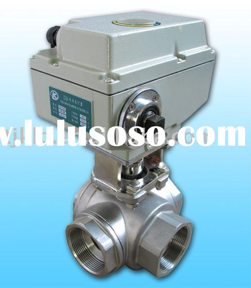KLD1500 3-way electric operated Ball Valve(stainless steel) for water treatment, process control, in