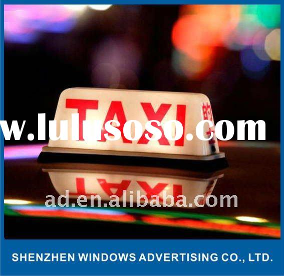 LED Illuminated Advertising Signs for Taxi Roof
