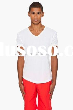 Low Factory Price Mens V-neck t-shirts Bulk Blank