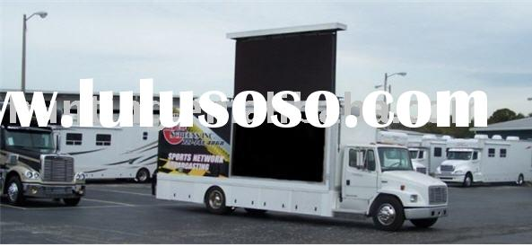 Mobile video outdoor full color LED display for advertising mounted on vehicles P12