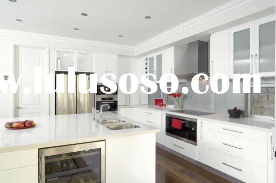 Modern MDF Kitchen Cabinet with solid countertop