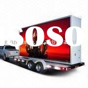 P20mm 6X3m full color video mobile led display for truck rental advertisement