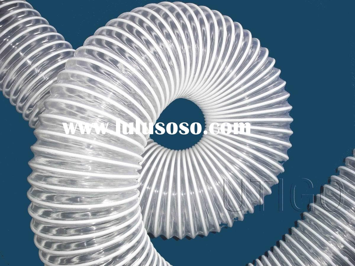 PVC coated steel wire flexible air hose for industrial ventilation
