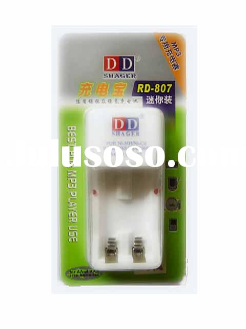 RD-807 Charger for 2 pcs of AA/AAA size rechargeable Ni-Cd Ni-MH Batteries