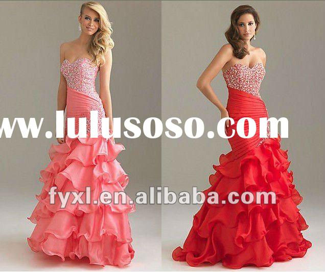 SD1468 Hot sale beaded mermaid prom dresses 2012