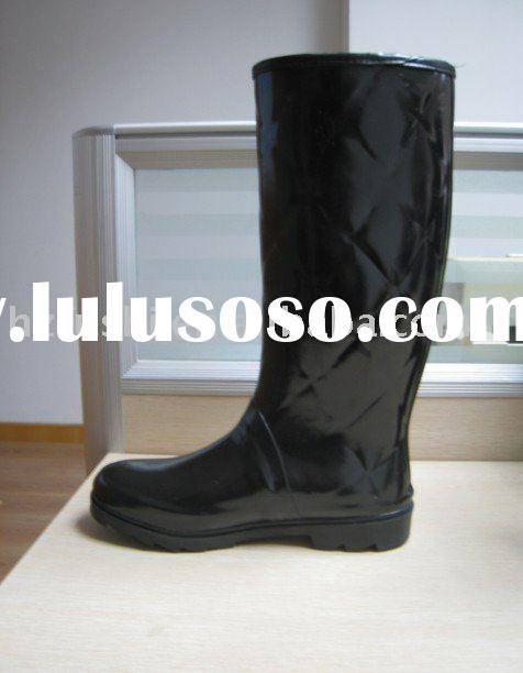 SHINNING BLACK rubber hunter boots