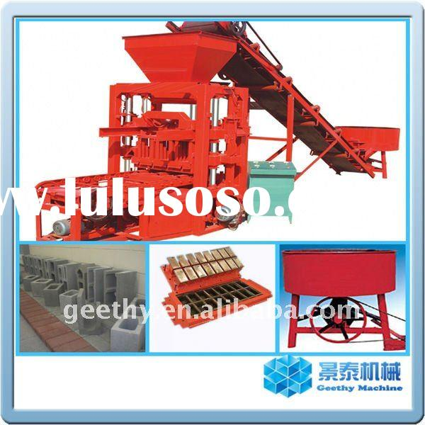 Semi automatic QTJ4-26C fly ash bricks making machine in India