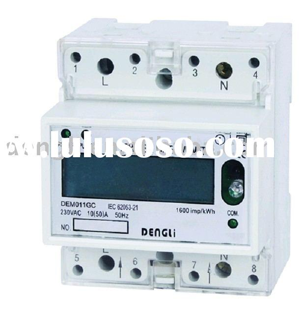 Single phase din rail kwh meter ( energy meter, electric meter)