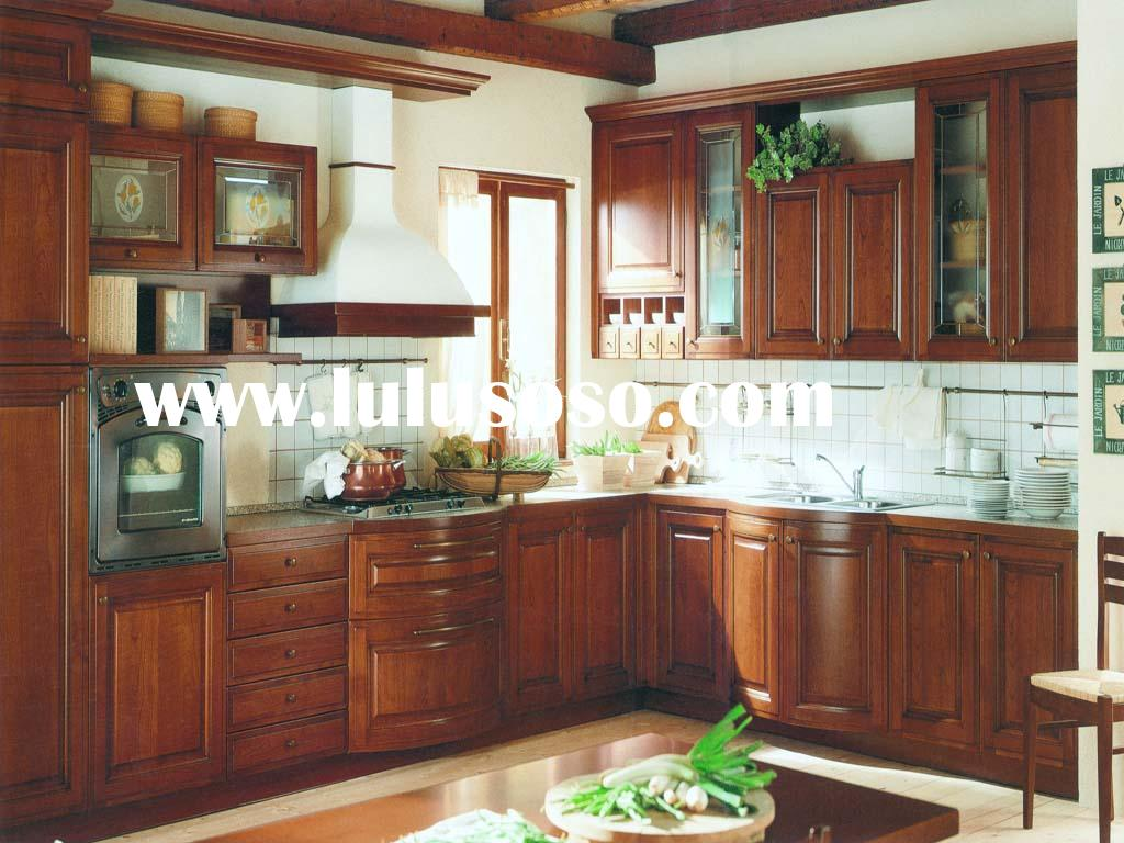 Solid Cherry Wood Kitchen Cabinet (USA Standard Cabinetry)