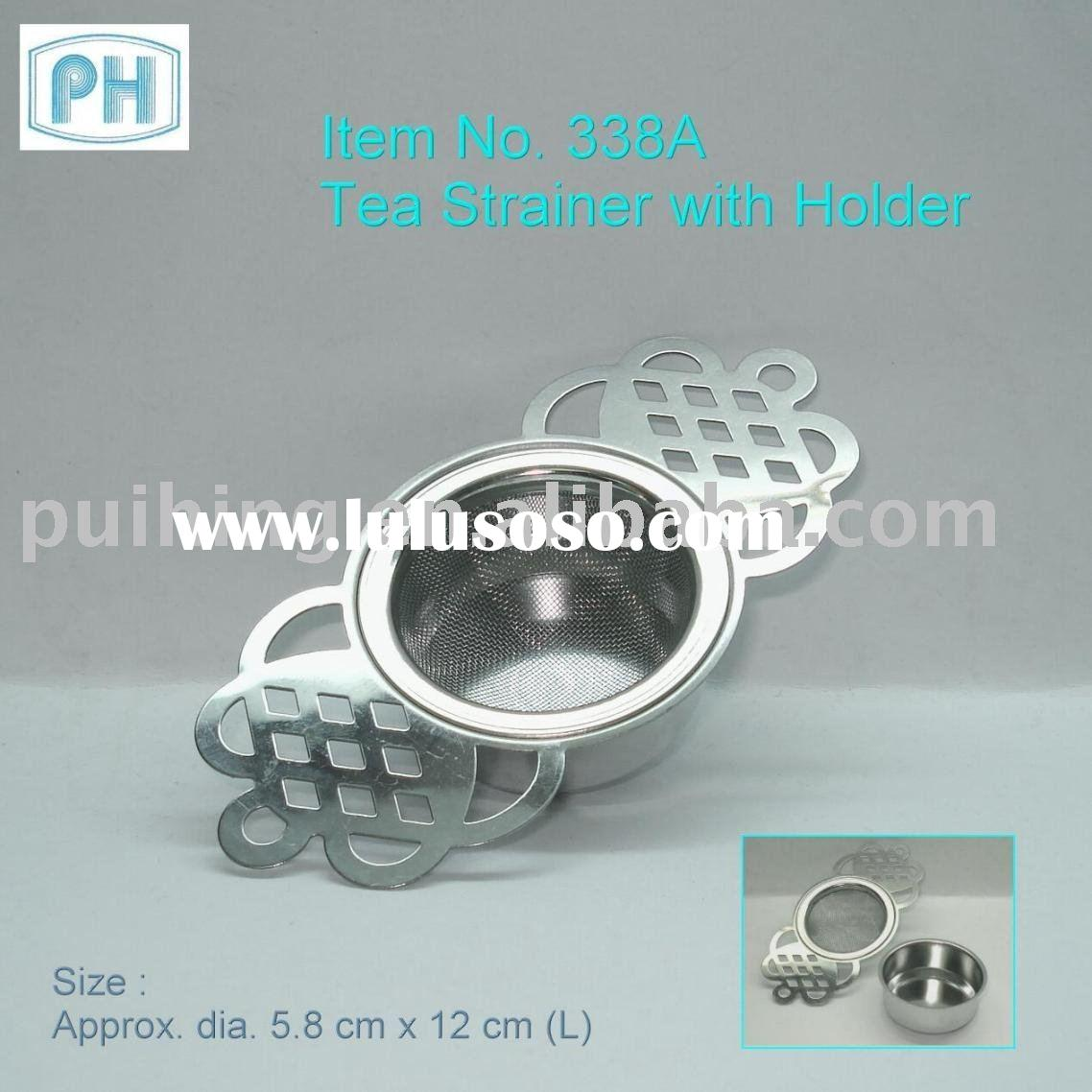 Stainless Steel Mesh Tea Strainer with Holder
