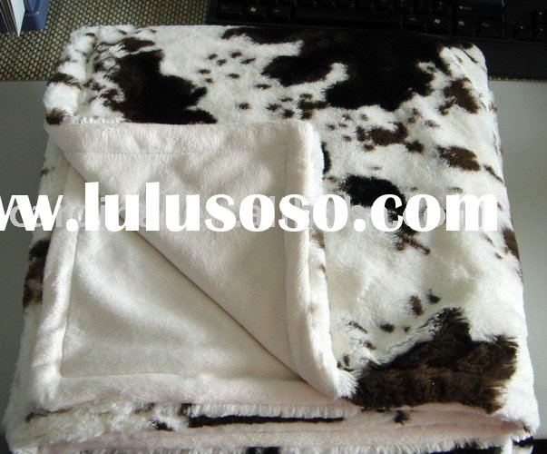 Super soft plush blanket with micro plush backing, large size &your color are available