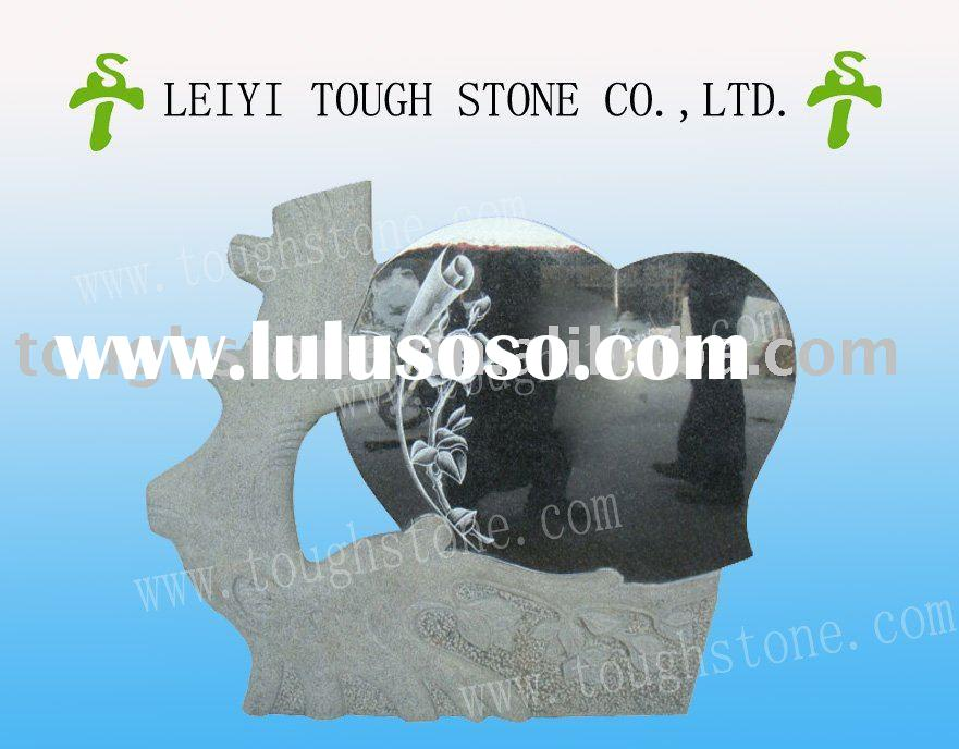 TREE AND HEART DESIGN STONE MONUMENT TOMBSTONE