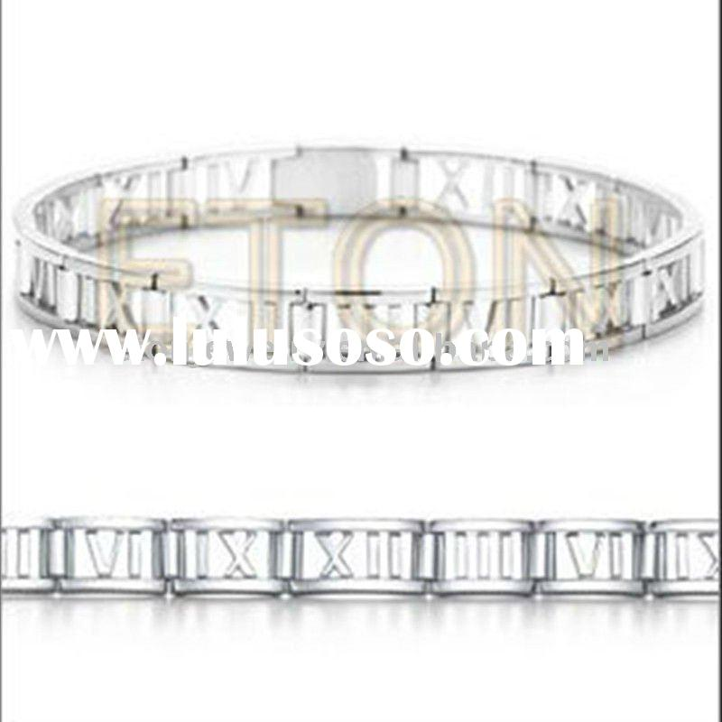 Wholesale fashion bracelet plain 925 sterling silver jewelry(B9606)