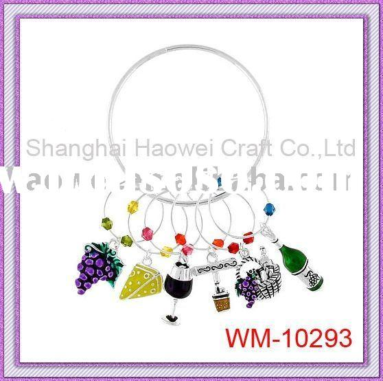 Wine Glass Jewelry set of 6 different pcs,Can be packaged with box,backing card with your logo