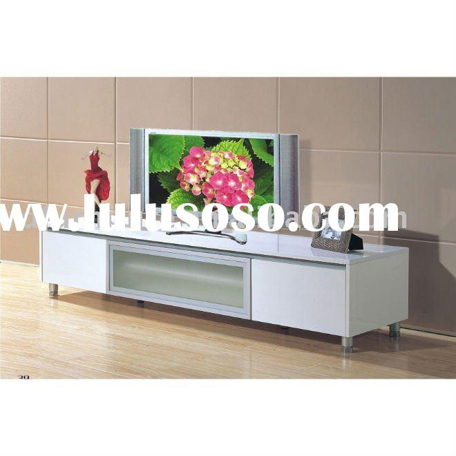 #AS076 modern TV stand in white high gloss finish