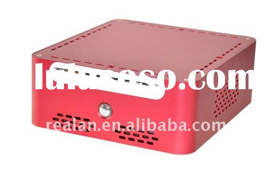aluminum mini itx case from realan red with slim ODD slot