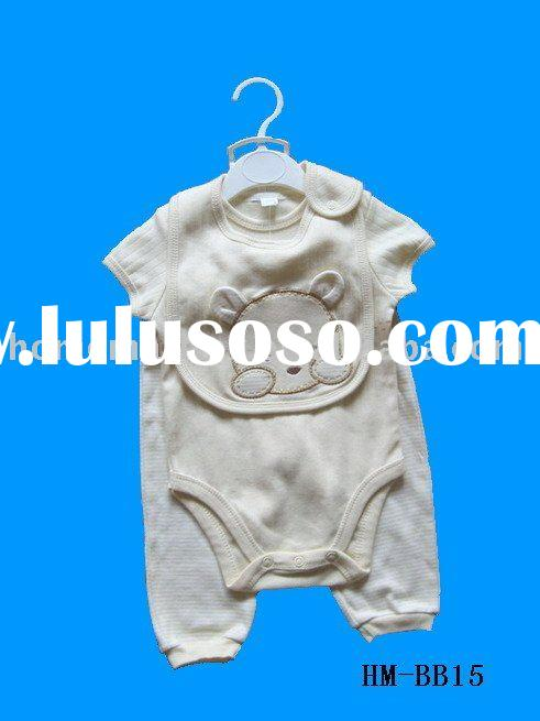 baby 3pcs set,baby items,baby bibs,baby cloth