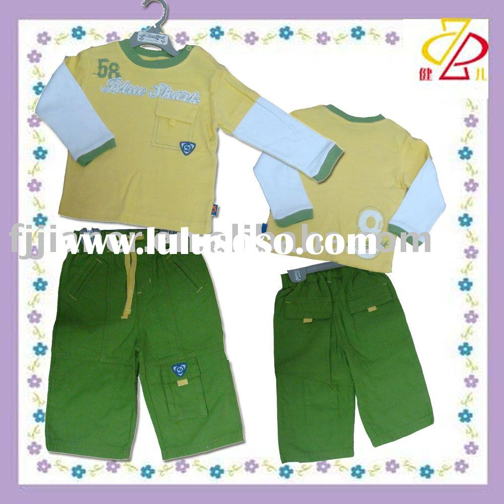 boy 2pcs set suit 3 organic baby clothes
