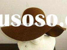 brown wool felt floppy hat