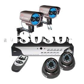 cctv H.264 4CH Stand Alone Net DVR and camera security system