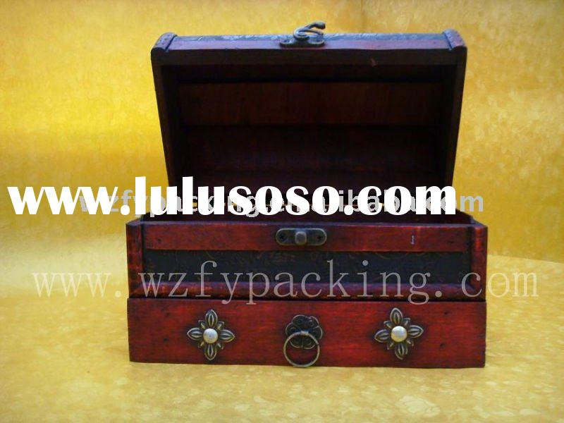 chinese antique decorative red wooden wine box