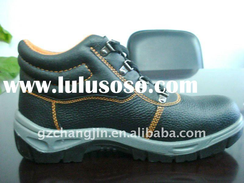 cow leather upper, steel toe cap safety shoes