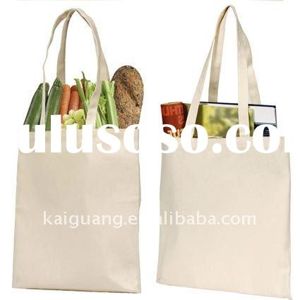 durable plain and cheap canvas tote bags good for shopping ,promotion(KG-46)